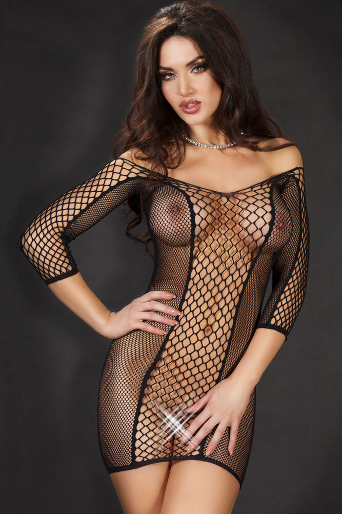 Bodystockings Lingerie Noire 36 38 42 Sexy Nuisette Donna Woman Underwear Filet