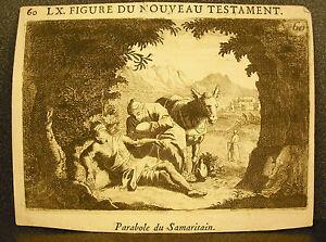 Dynamique Gravure Figure Du Nouveau Testament Parabole Du Samaritain Good Samaritan Xviith