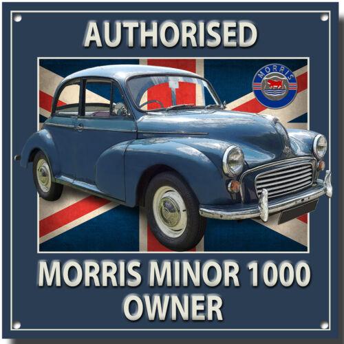 Vintage 10000 zugelassene Morris Minor 1000 Eigentümer Metall Schild