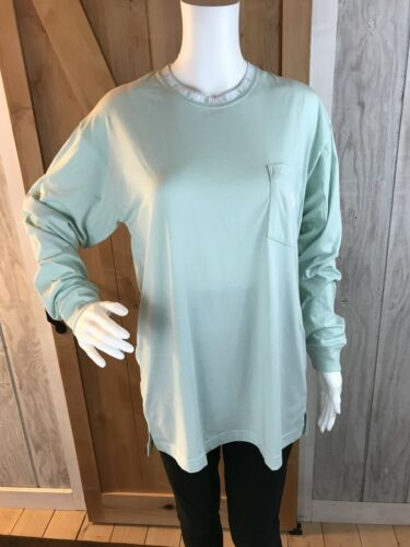 PINK by Victoria Secret Campus Tee Long Sleeve Mint oversized Fit Small