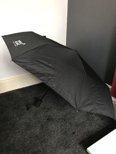 MONT BLANC NOIR Unisexe Pliable Smart Automatique Ouverte parapluie NEUF