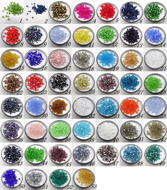 Free ship 100 PCS Swarovski  crystal 4 mm 5301 Bicone Beads