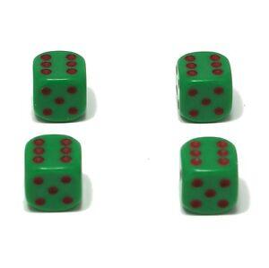 Set-of-Four-Green-Maroon-spots-Dice-Dust-Caps-X4-80-039-s-Retro-Valve-Caps
