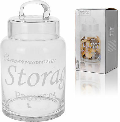 Lovely Glass Storage Jar with Glass Lid Cookies Sweet Jar Pasta Jar