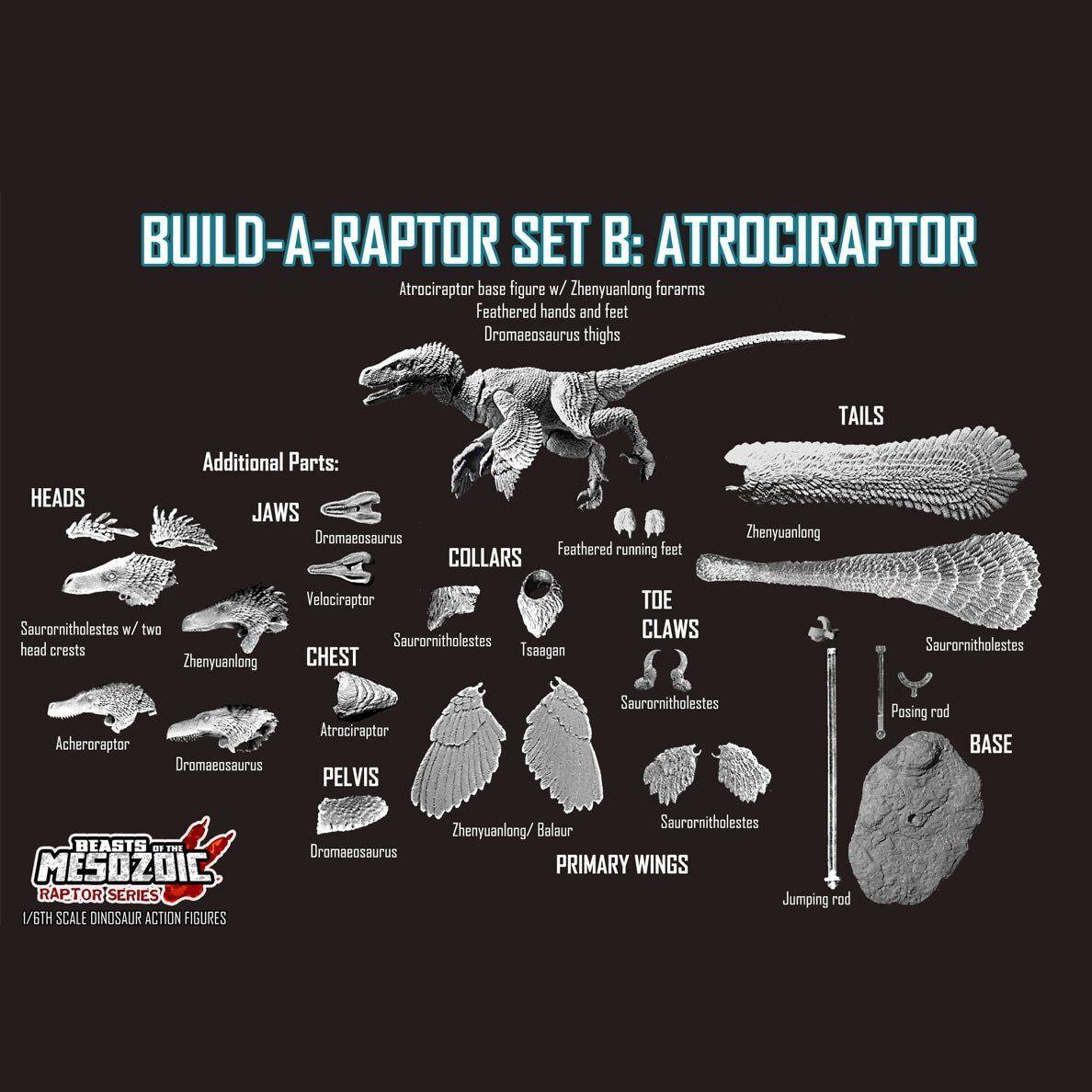 Beasts of the Mesozoic Build-a-Raptor Set B Atrociraptor 1 6 Scale Figurine