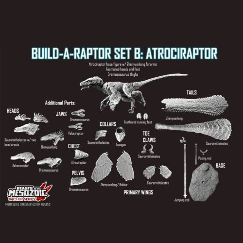 Beasts of the Mesozoic Build-a-Raptor Set B Atrociraptor 1:6 Scale Figurine