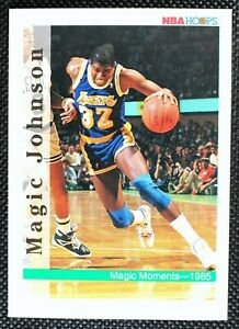 MAGIC JOHNSON - 1991-1992 Skybox NBA Hoops Magic Moments Los Angeles Lakers #329