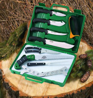 Outdoor Edge 12 Piece Deer & Wild Game Processor Kit Hunting Skinning Knife Set