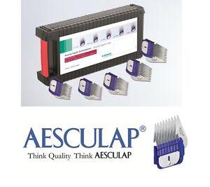 Boîte à 5 peignes en métal / acier inoxydable.   Aesculap Fav5, Moser Max 45 50. 34359