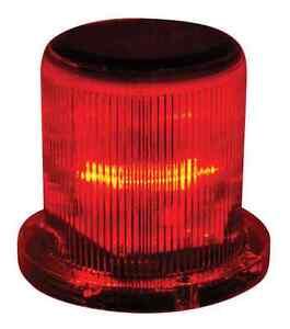 Marine Solar Warning Light RED LED Marine Dock Barge Safety Beacon Light