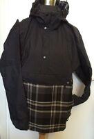 Nike Coat Black & Tartan Packable Hooded Jacket Check S M L Xxl