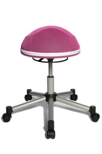 Drehhocker Bürohocker Drehstuhl Topstar Sitness Half Ball rosa pink B-Ware