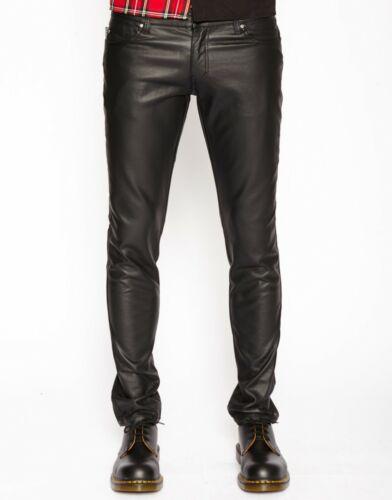 Men/'s Leather Pant Jeans cuisse fit Pantalon Culotte BLUF Lederhosen