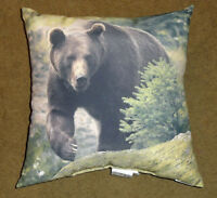 Grizzly Bear 18 Toss Pillow