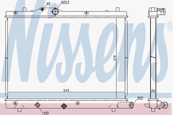Nissens 69404 Radiador para Suzuki Swift 1,3 -ddis 05