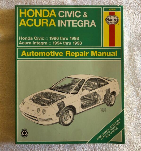 Haynes Honda Civic & Acura Integra Repair Manual