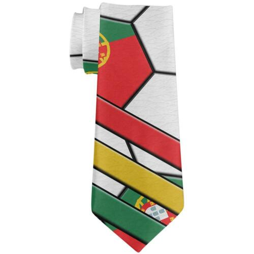 World Cup Portugal Soccer Ball All Over Neck Tie