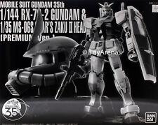 1/144 RX-78-2 Gundam & 1/35 MS-06S Char's Zaku II Head Premium 35th Exclusive