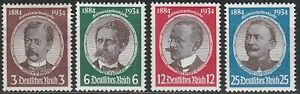 Stamp-Germany-Mi-540-3-Sc-432-5-1934-WWII-Reich-War-Research-Peters-Luderitz-MH