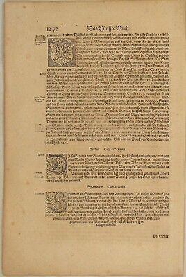 Berlin Brandenburg Original Textblatt Um 1550 Geschichte Spandau Spree Christen