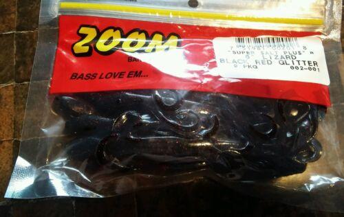 "New ZOOM 6/"" LIZARD BLACK RED GLITTER 9PKG"