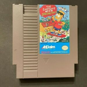 Bart vs Space Mutants - Nintendo/NES Cart, Working Authentic, Free Shipping