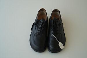FINN-COMFORT-Genf-Schuhe-Schnuerschuh-mit-Einlagen-Gr-41-unisex-schwarz-Leder-NEU