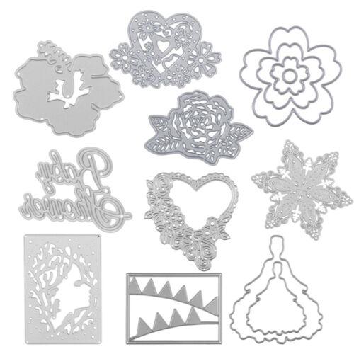 10 Styles Metal Cutting Dies Stencils Scrapbook Album Paper Card Embossing