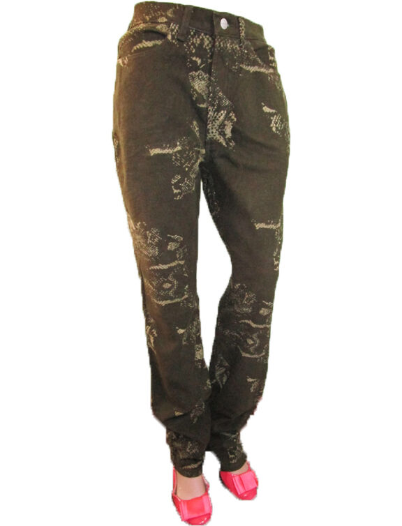 TRUSSARDI Italian Designer Woman Vtg 90s Pattern High Waist Trousers sz 30 A11