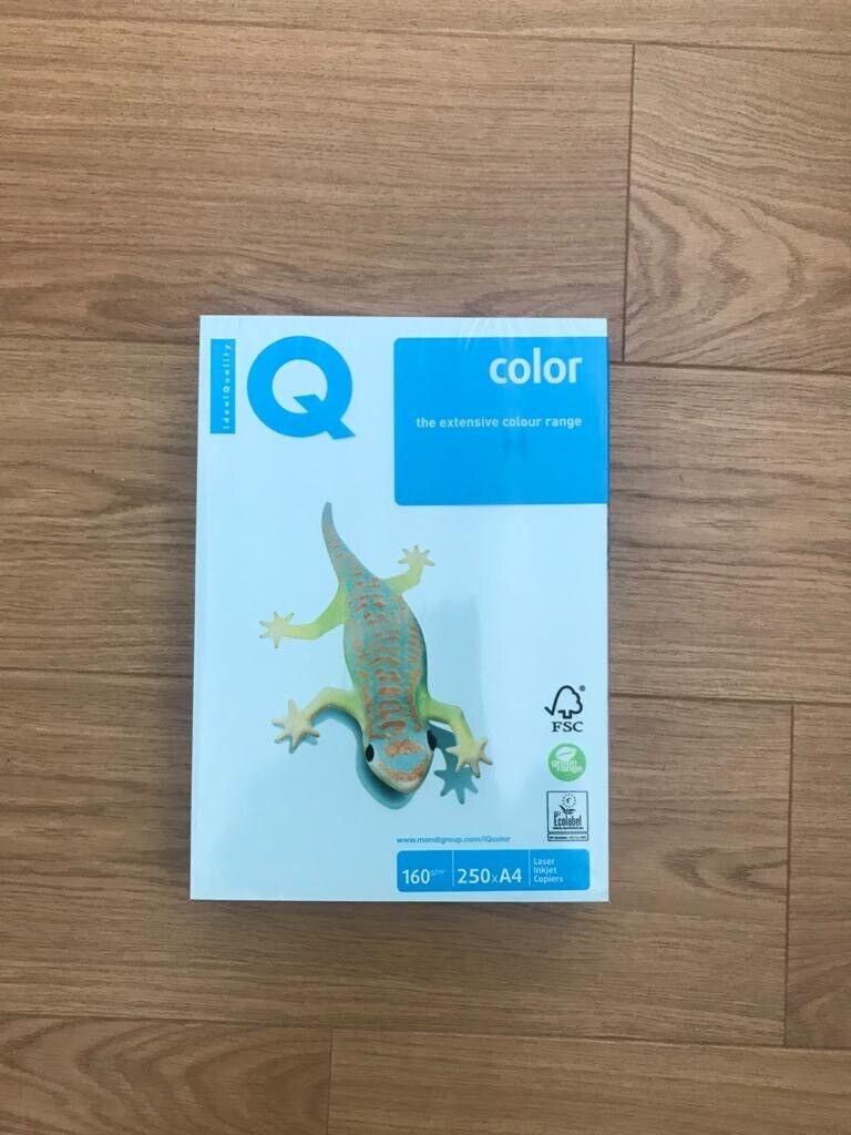 Mondi / IQ A4 160GSM Card Paper Mint Blue 250 sheets