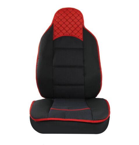 2x Cuscino cuscini sedile Tappetini schiena Cuscino Tessuto Nero Rosso