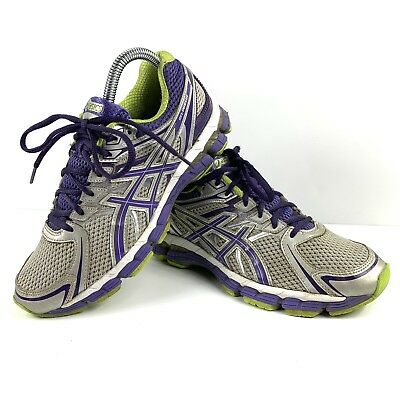 Asics Gel Pursue Lighting Purple Lime Running Shoes T498N Women's Size 7 | eBay
