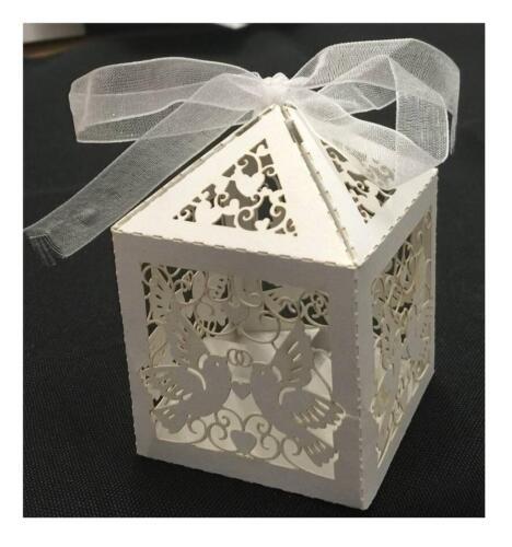 Hochzeit Geschenk Luxus Süßigkeiten Boxen mit Rippenplatten Tischdeko