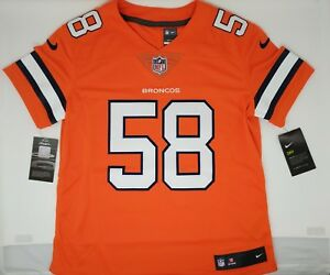 new concept 2f840 7caad Details about Nike Women's NFL Von Miller #58 Nike Color Rush Denver  Broncos Jersey $150 NWT