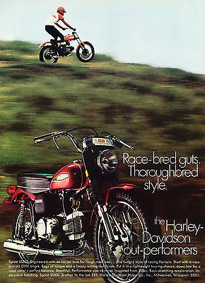 1968 Harley Davidson Rapido Motorcycle Vintage Advertisement Ad D124