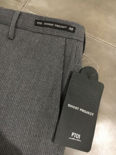 Pt01 Italy slim wollen fit Ghost broek Project Torino Nwt 46 Pantaloni 30495 b6Yfygv7