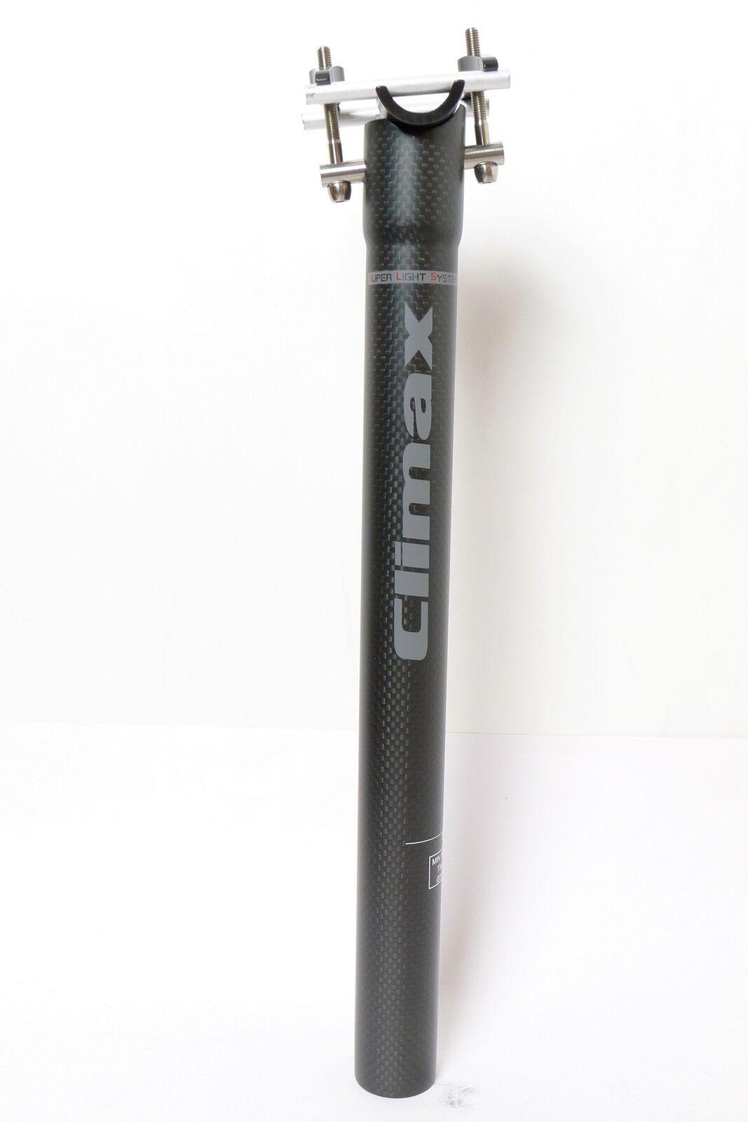 Clímax 140g,31 .6x350mm SP02D1 3K Matt tija de sillín de Carbono Bicicleta MTB Carretera Negro