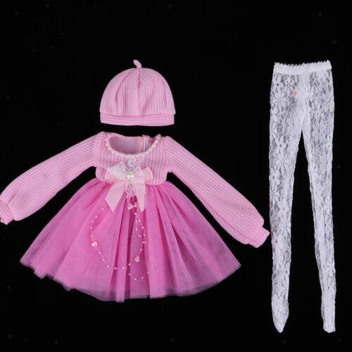 Süßer Princess Sweater Dress Rock mit Spitzenstrümpfen für 1//3 BJD