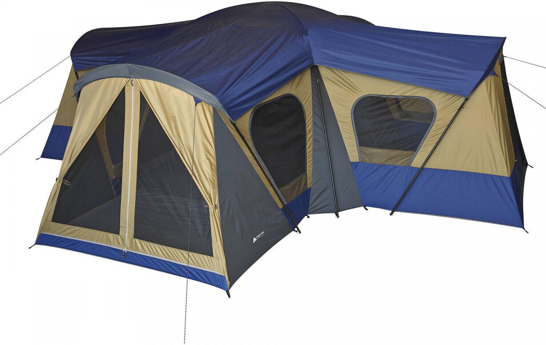 Ozark Trail Base Camp 14 Person Cabin Tent campeggio Hire 4 Room Canopy Shelter