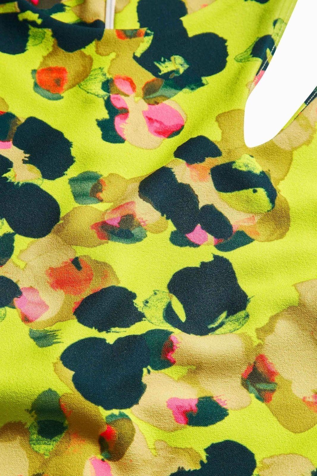 Womens Next Citrine Bodycon Dress ou Shoulder Summer Animal Ladies RRP £ 38!!!