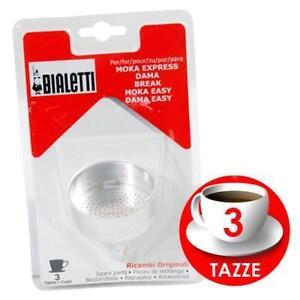 BIALETTI BLISTER IMBUTO MOKA 4 TAZZE PER CAFFETTIERA MOKA GLI ORIGINALI BIALETTI