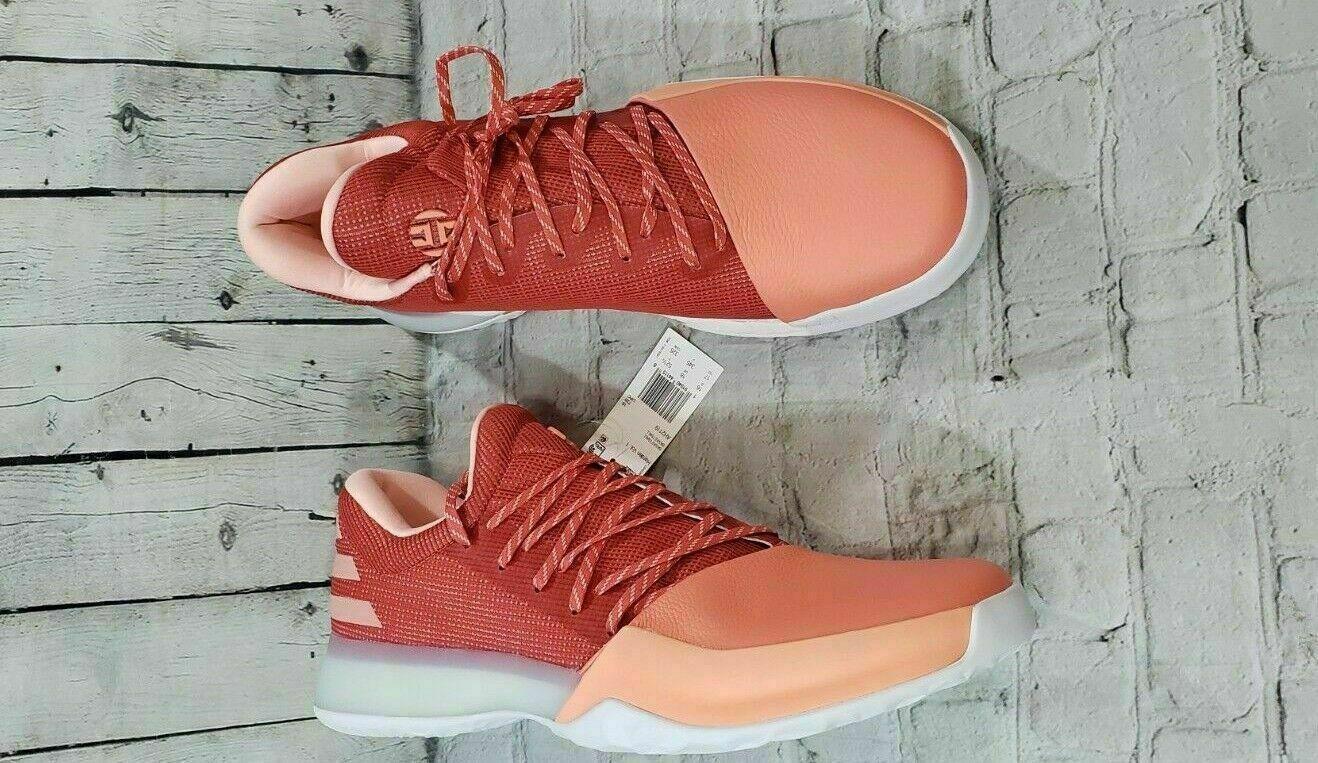 Adidas James Harden Vol.1 Basketball Chalk Coral Trace Scarlet AH2119 MENS SZ 17