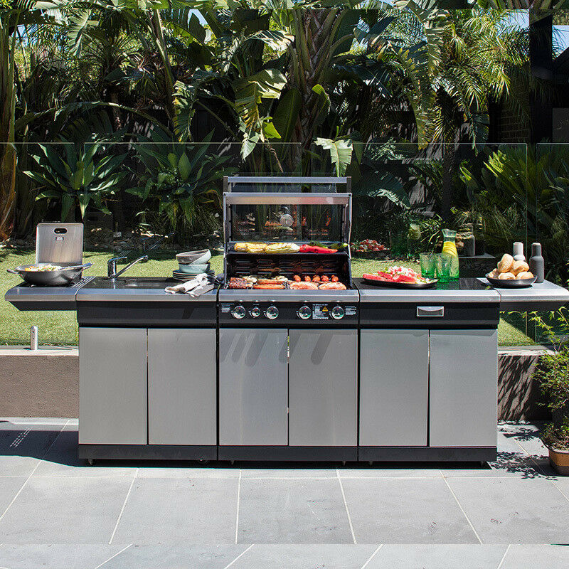 Gasmate Nero 5 Burner Outdoor BBQ Kitchen