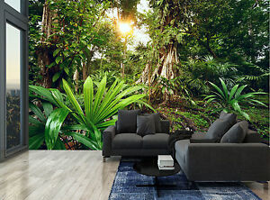 Details About Rainforest Jungle Treestropical Wall Mural Photo Wallpaper Giant Wall Decor