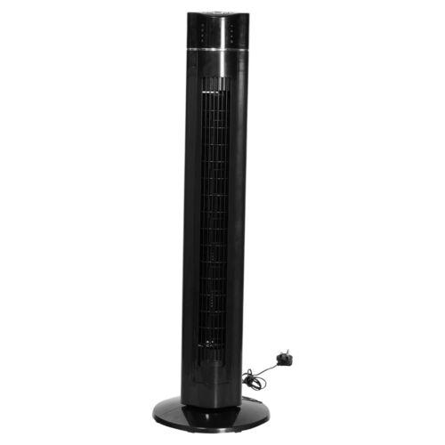 """43/"""" A TORRE OSCILLANTE VENTOLA ARIA Ionizer 60W Telecomando Timer 3 velocità di raffreddamento"""