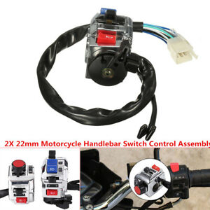 22mm Motorcycle Handlebar Lever Switch Horn Lamp Indicator Engine Start Button
