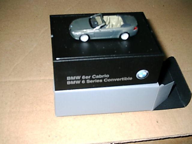 Voiture miniature BMW 6er Cabriolet e64 stratusgris M 1 87.