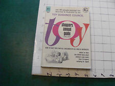 Vintage Book: TOY Shoppers Annual Guide 1962-1963 DELL, 240pages