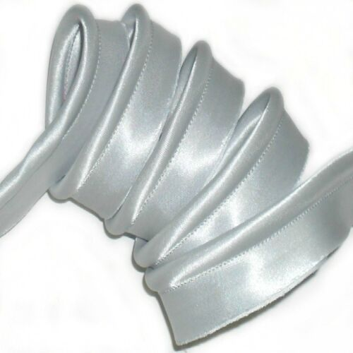 17MM DOVE GREY SATIN FLANGED INSERTION PIPING CHOOSE LENGTH ART No15 FREE P/&P