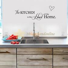 Heart Sentence PVC Removable Vinyl Decal Art DIY Wall Sticker Kitchen Home Decor